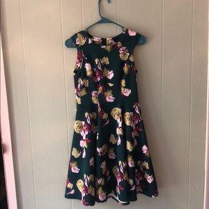 Green Floral Dress by Yoana Baraschi